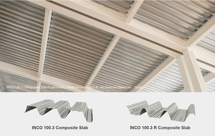 Incoperfil presents new profiles for composite slab: INCO 100.3 composite and INCO 100.3 R composite